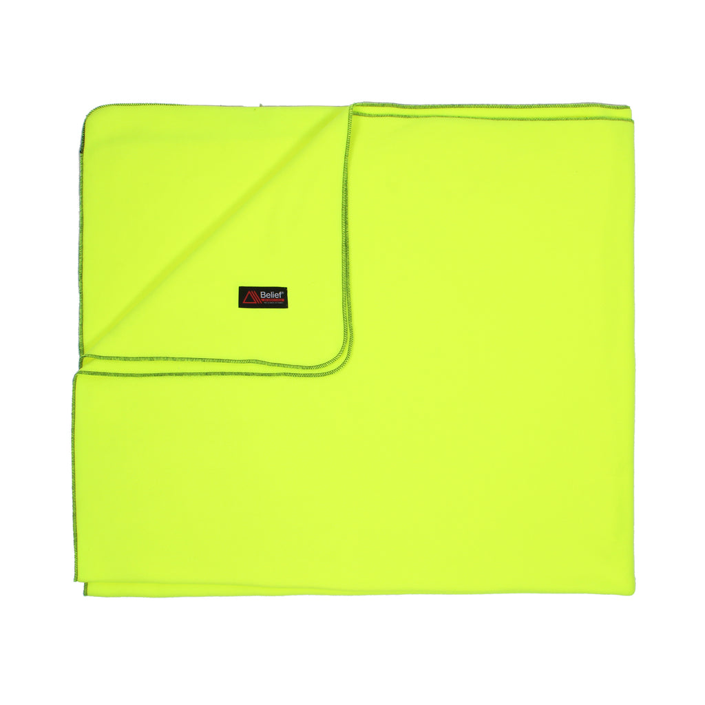 Polartec® Fleece Blanket - Safety Yellow
