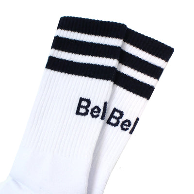Court Sock - White/Navy