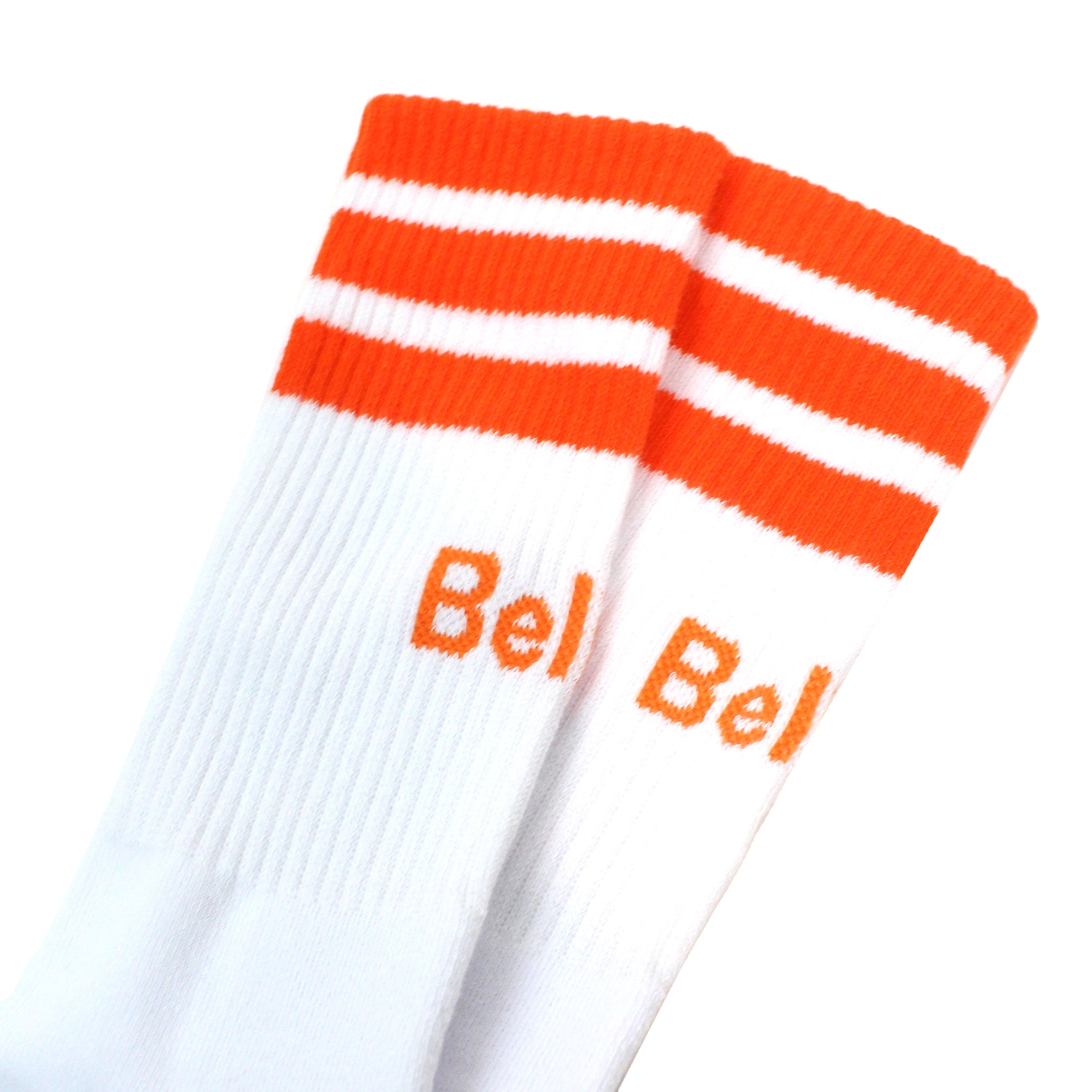 Court Sock - White/Orange