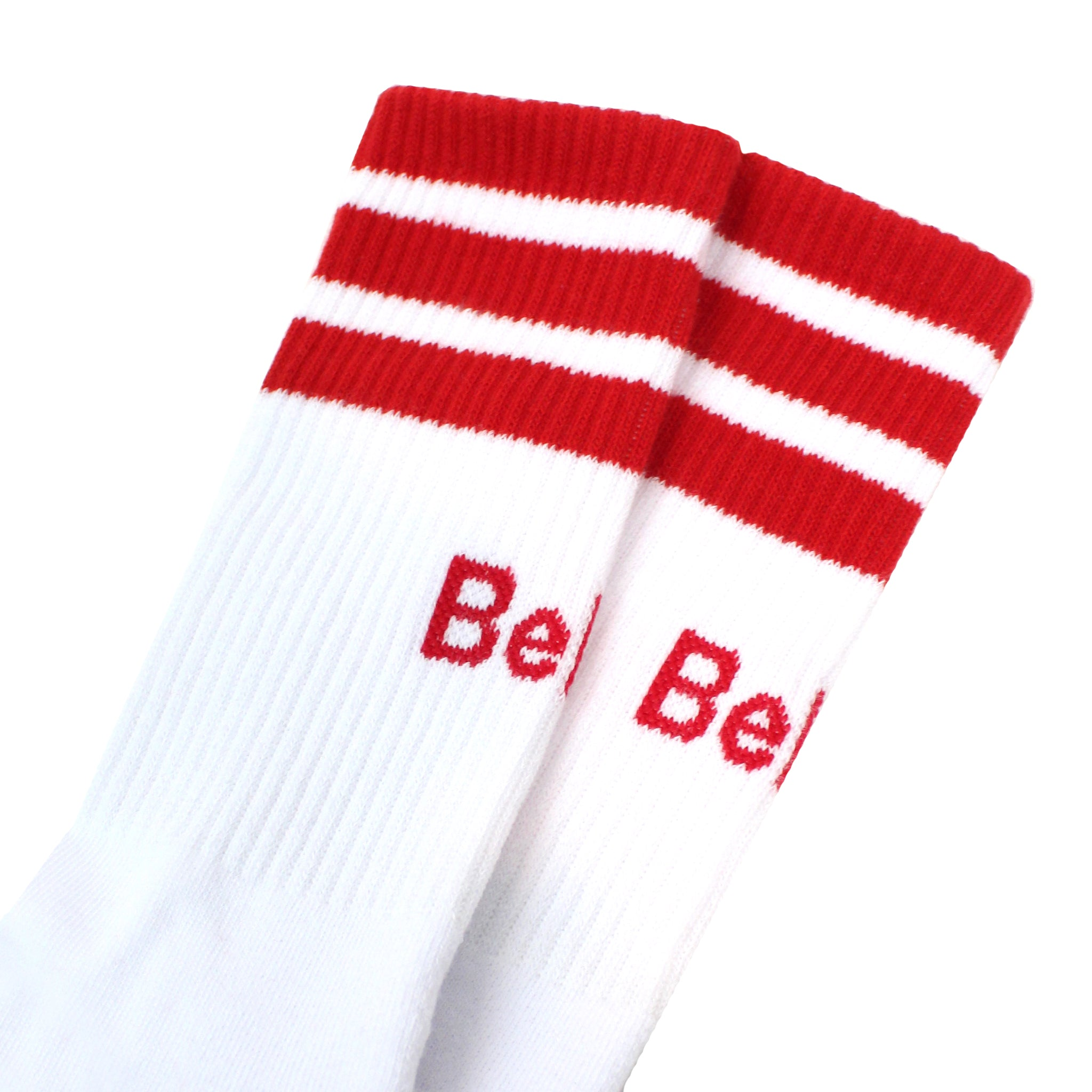 Court Sock - White/Red