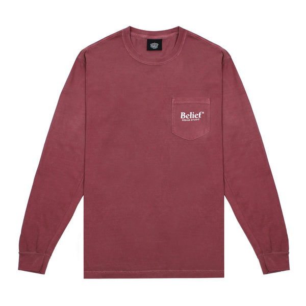 Studio L/S Pocket Tee - Brick