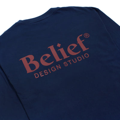 Studio L/S Pocket Tee - Navy