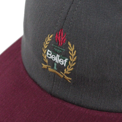 Liberty 6 Panel - Graphite/Burgundy