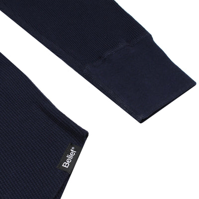 Backwoods Thermal Henley - Navy