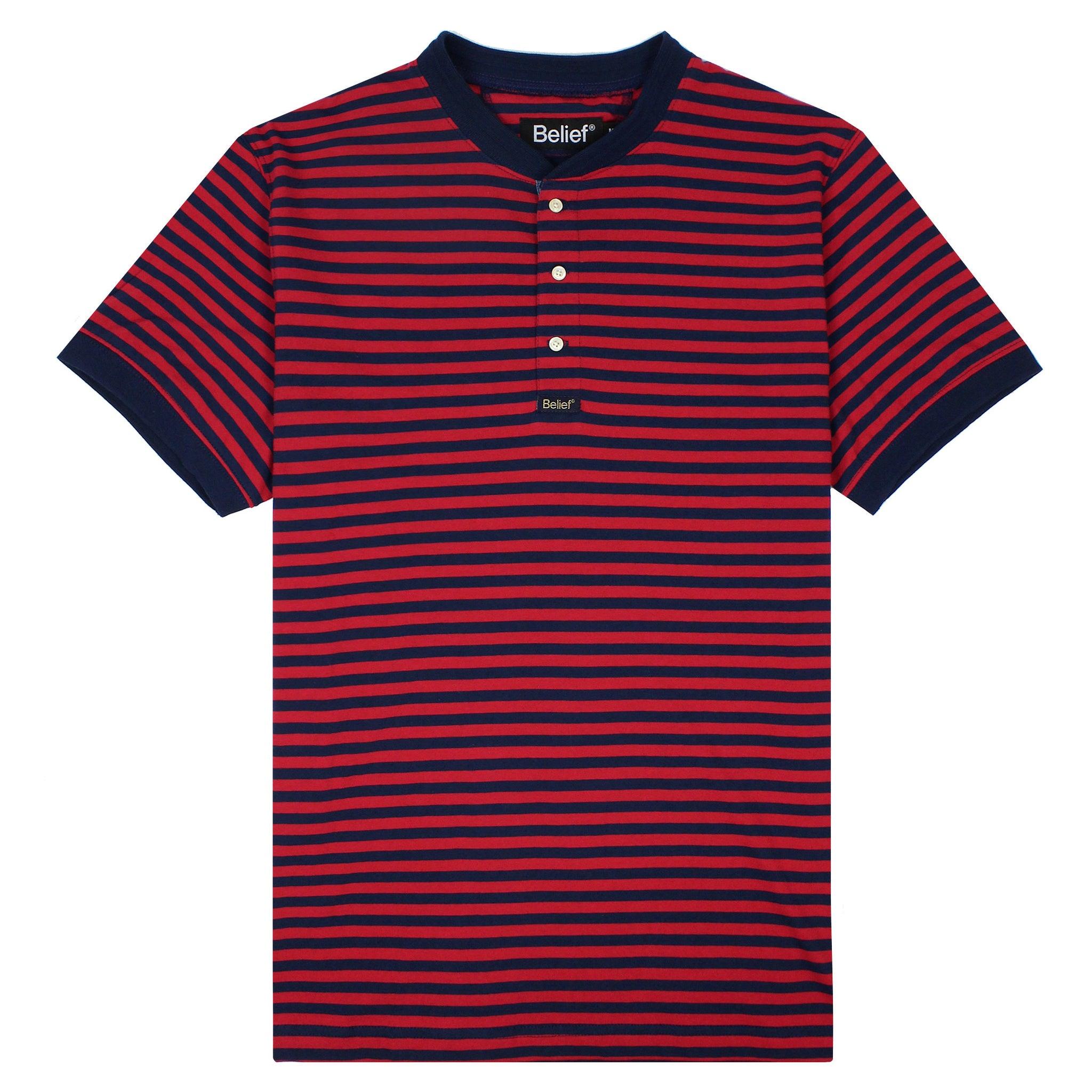 Dockside Henley - Navy/Red