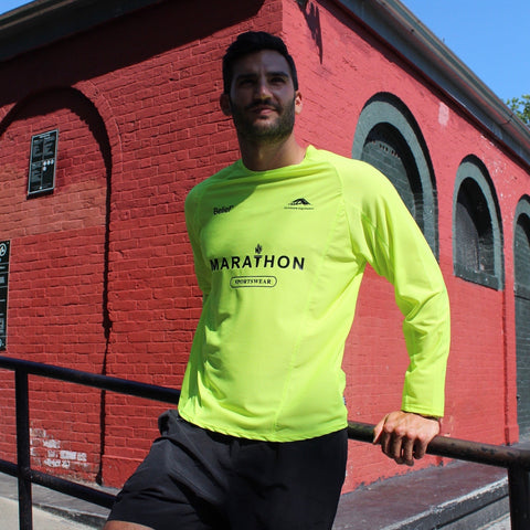 Marathon Mesh Jersey - Safety Yellow