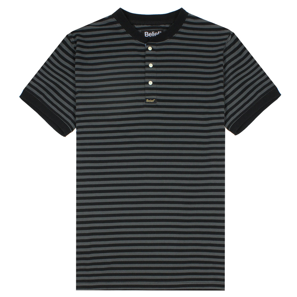 Dockside Henley - Black/Grey