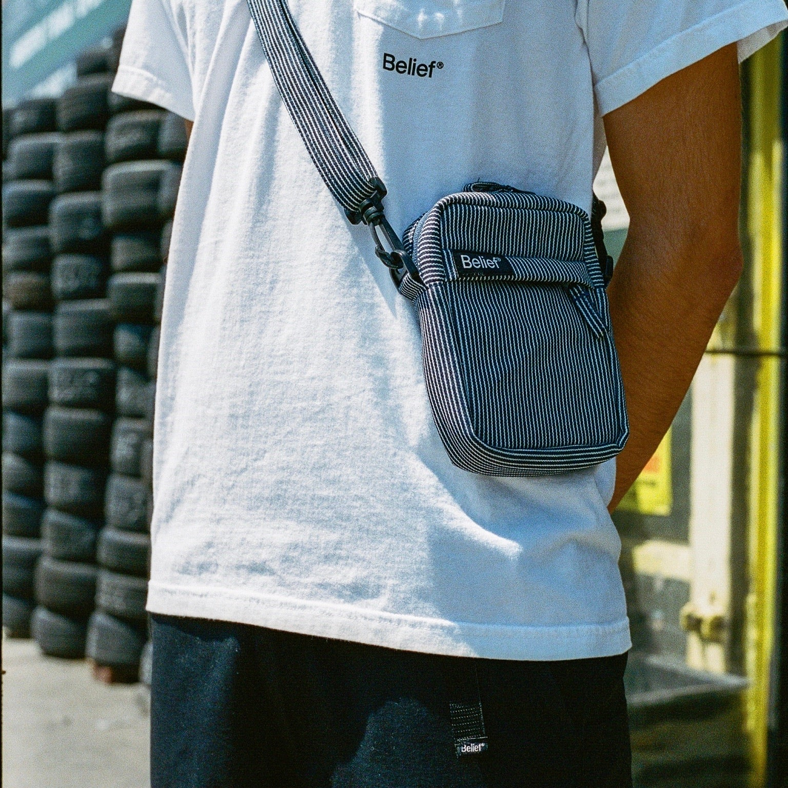 Sidewalk Shoulder Bag - Railroad Denim