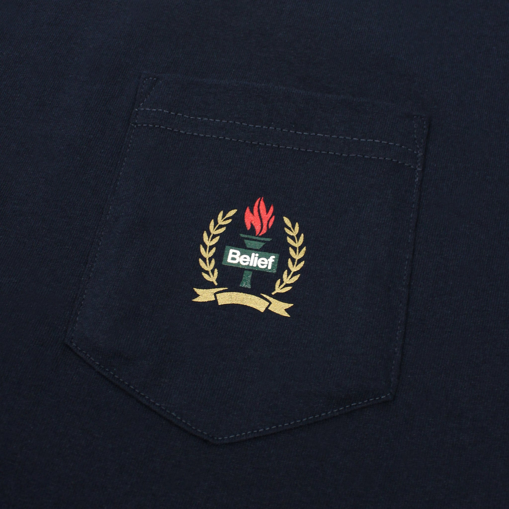 Liberty Pocket Tee - Navy