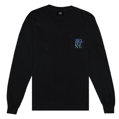 Stacked L/S Pocket Tee - Black
