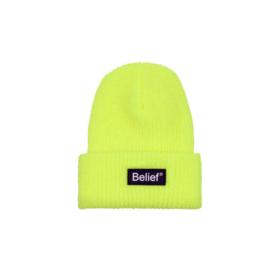 Neon Logo Beanie - Safety Yellow
