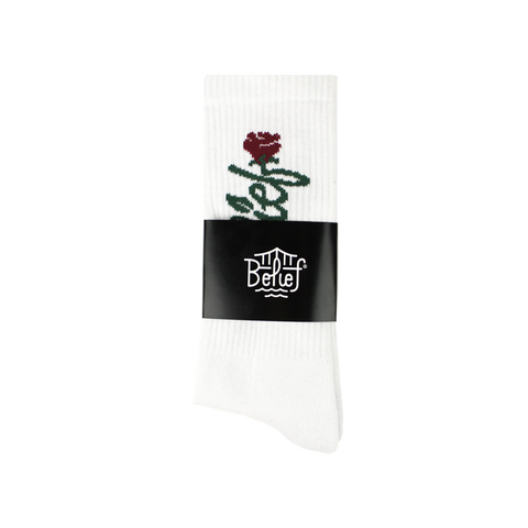 Rose Sock - White