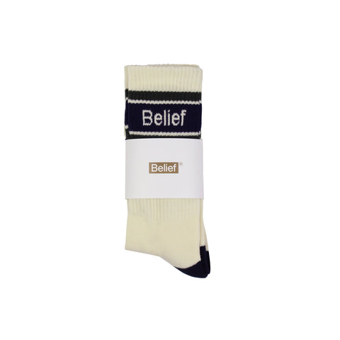 Academic Sock - Cream Multi