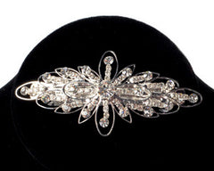 Crystal Flower Hair Barrette