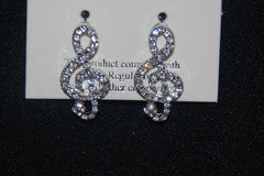 Crystal Clef Post Earrings