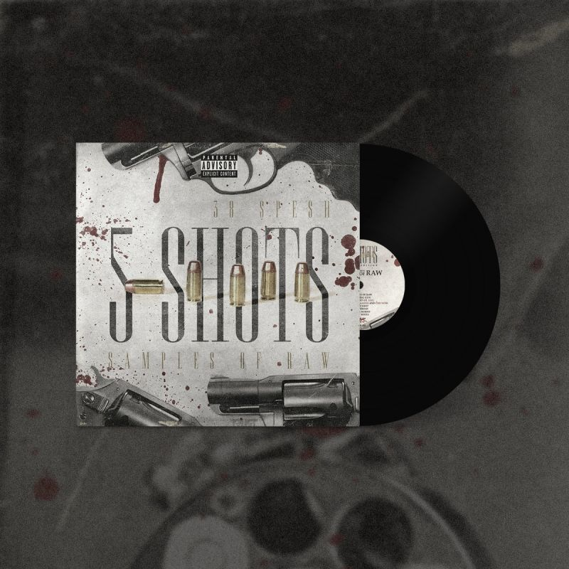 38 Spesh - 5 Shots [Black 357 Mag Edition] [Vinyl Record / LP] - Dig Around Records