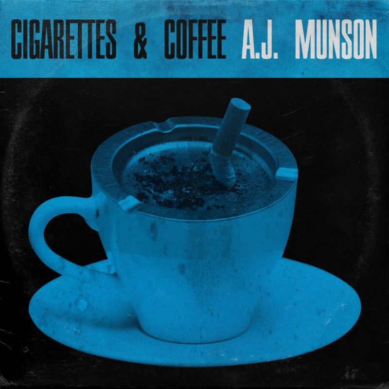 AJ Munson - Cigarettes and Coffee [Black] [Vinyl Record / LP]-Chopped Herring Records-Dig Around Records
