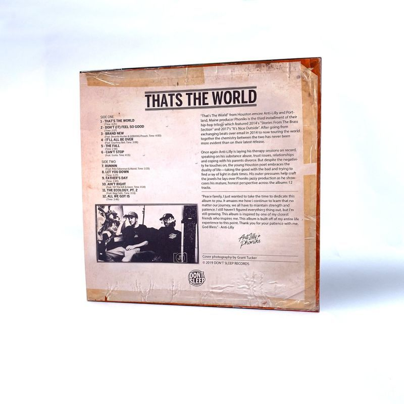 Anti-Lilly & Phoniks - That's The World [Red] [Vinyl Record / LP]-Don't Sleep Records-Dig Around Records