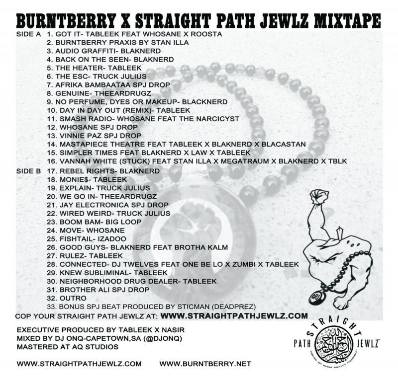 BURNTBERRY X STRAIGHT - PATH JEWLZ MIXTAPE [Cassette Tape / Mixtape]-BURNTBERRY MUSIC-Dig Around Records