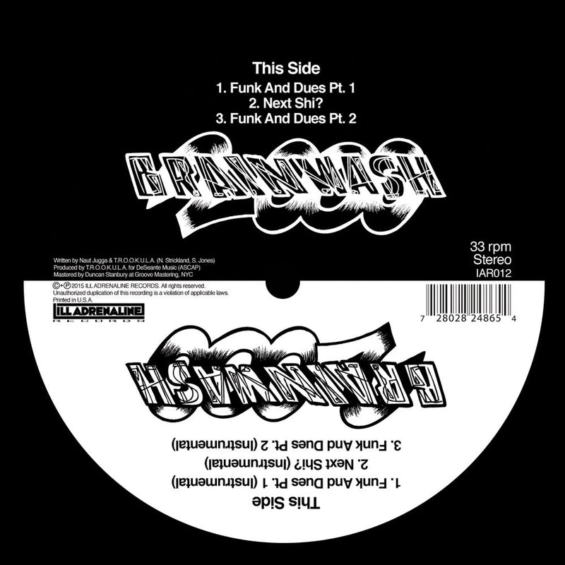 "Brainwash 2000 - Funk And Dues / Next Shit [Reissue] [Black] [Vinyl Record / 12""]-ILL ADRENALINE RECORDS-Dig Around Records"