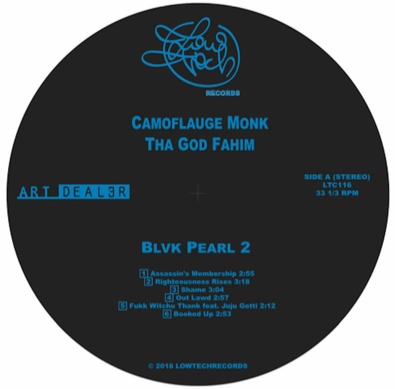 Camoflauge Monk / Tha God Fahim - Blvck Pearl 2 [Random Color] [Vinyl Record / LP]-Lowtechrecords-Dig Around Records