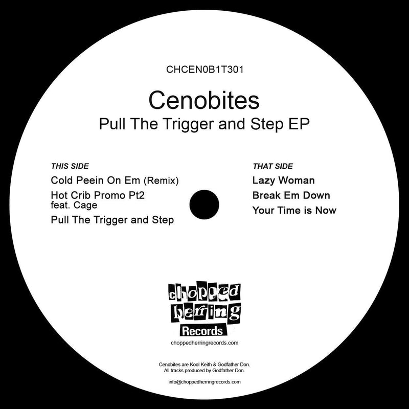 "Cenobites - Pull The Trigger & Step [Black] [Vinyl Record / 12""]-Chopped Herring Records-Dig Around Records"