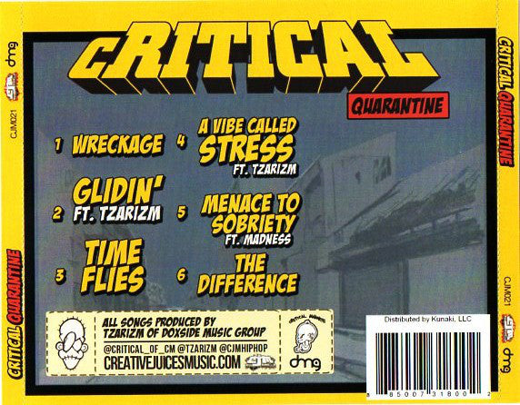 Critical - Quarantine [CD]-Creative Juices Music-Dig Around Records