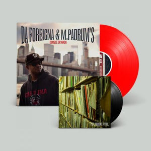 "Da Foreigna & MPadrums - Double or Nada [Red + Black] [Vinyl Record / 12"" & 7"" + DL Code] - Dig Around Records"