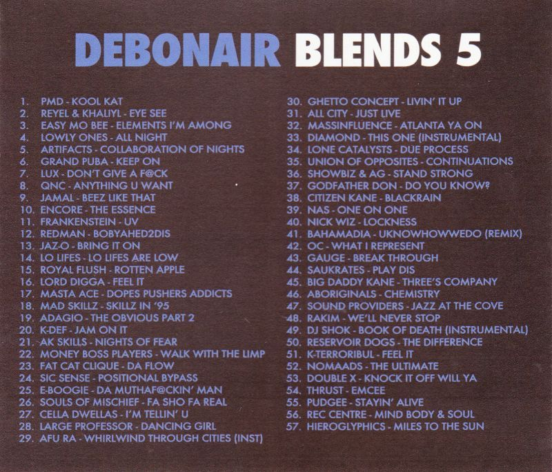 Debonair P - Debonair Blends 5 [Mix CD] - Dig Around Records