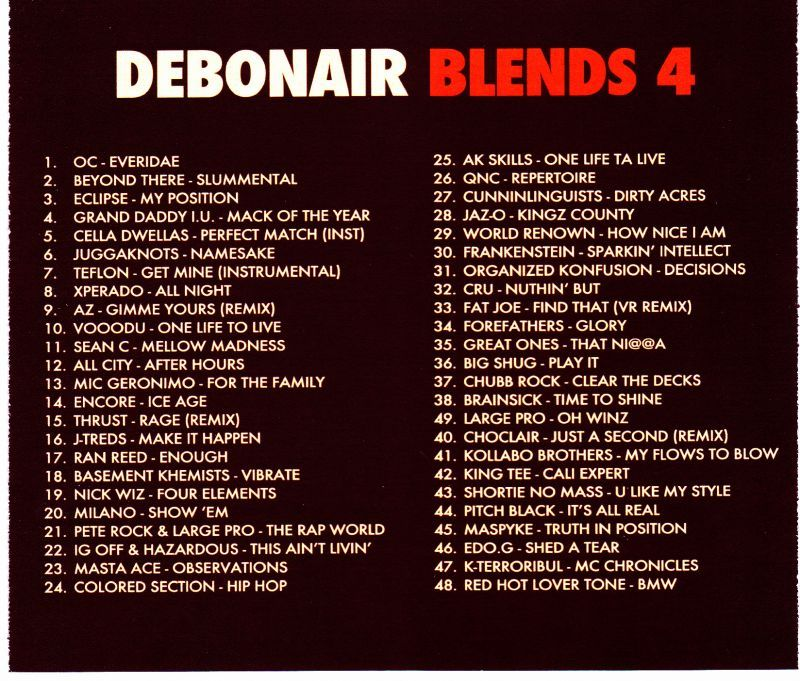 Debonair P - Debonair Blends 4 [Mix CD]-Gentleman's Relief Records-Dig Around Records