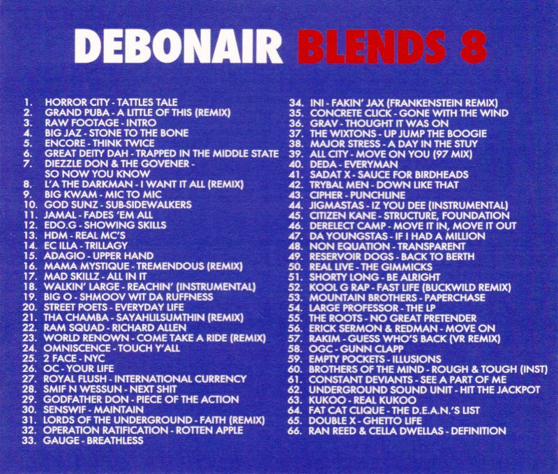 Debonair P - Debonair Blends 8 [Mix CD]-Gentleman's Relief Records-Dig Around Records