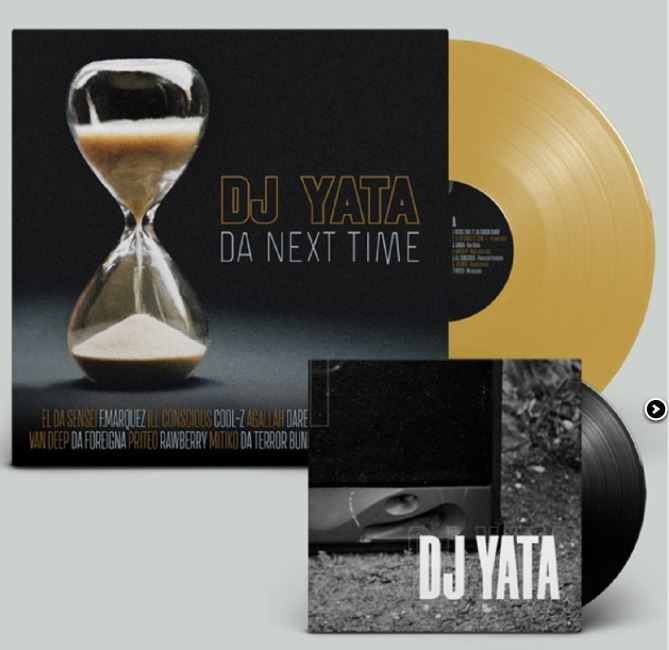 "Dj Yata - Da Next Time Pack [Gold + Black] [Vinyl Record / 12"" & 7"" + Poster]-Back In The Days Records-Dig Around Records"