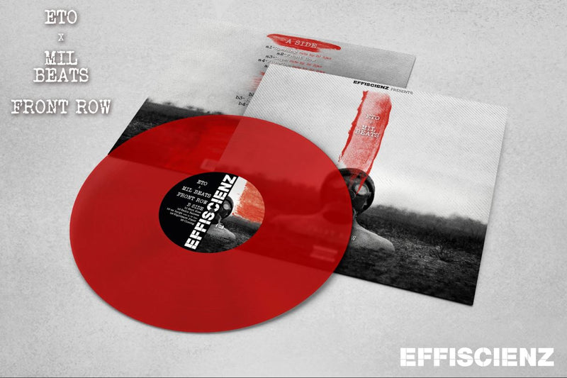 Eto x Mil Beats - Front Row [Red Transparent] [Vinyl Record / LP]-EFFISCIENZ-Dig Around Records