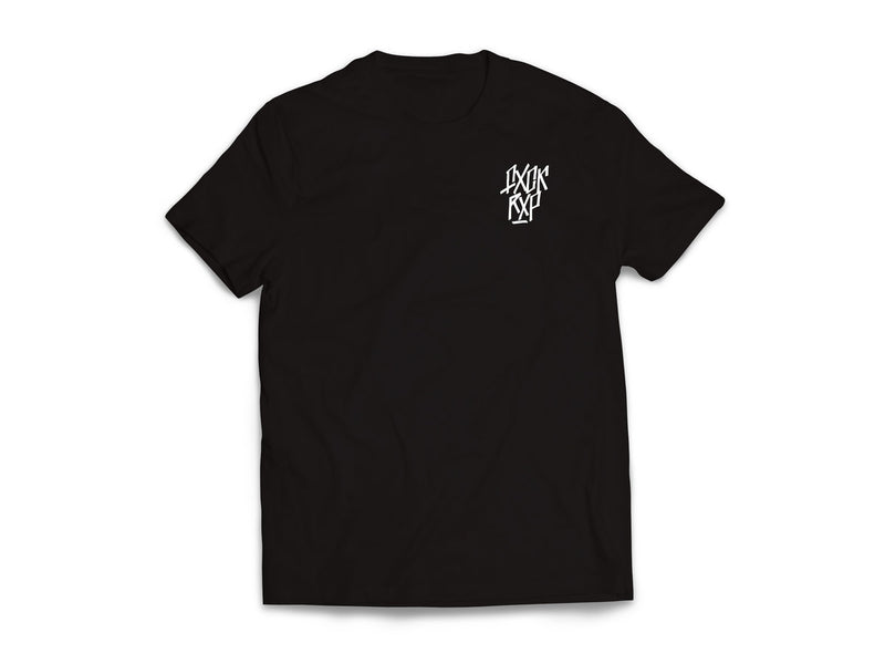 FXCK RXP Logo [T-Shirt] (Black shirt/white print on both sides)-FXCK RXP-Dig Around Records