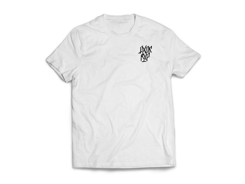 FXCK RXP Logo [T-Shirt] (White shirt/black print)-FXCK RXP-Dig Around Records