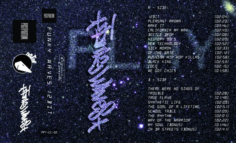 Funky Waves - 12 Bit [Cassette Tape]-POSTPARTUM. RECORDS-Dig Around Records