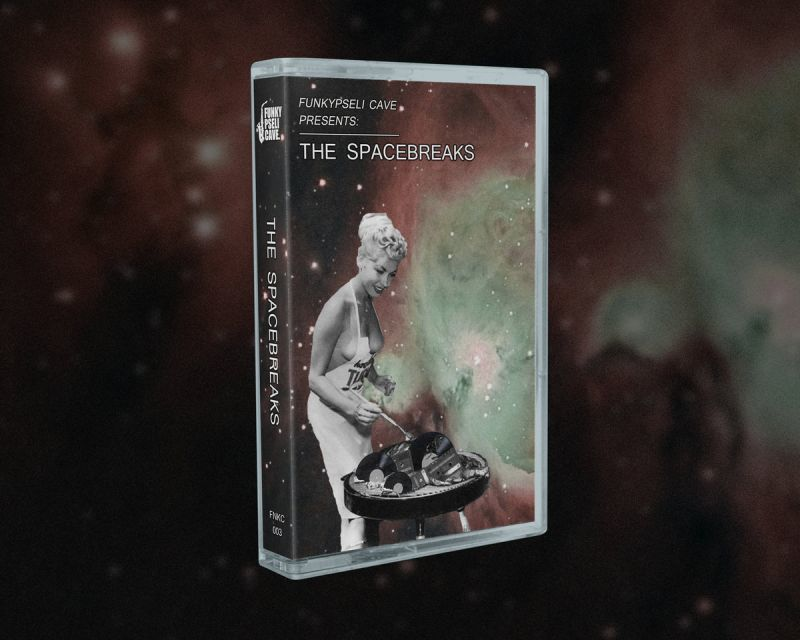 Funkypseli Cave Presents: The Spacebreaks [Cassette Tape + Download Code] - Dig Around Records