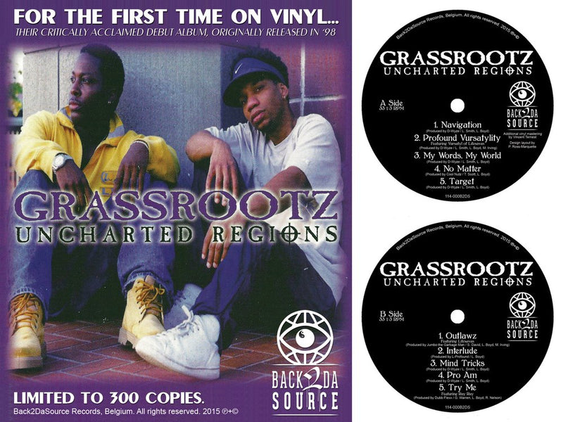 Grassrootz - Uncharted Regions [Vinyl Record / LP]-Back 2 Da Source Records-Dig Around Records