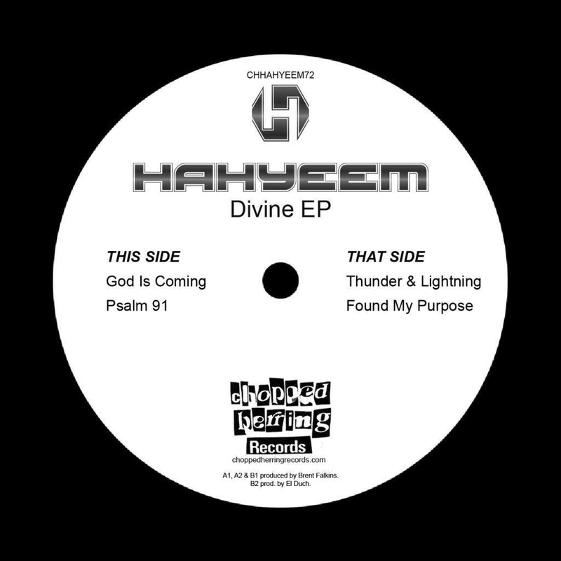 "Hahyeem - Divine [Black] [Vinyl Record / 7""]-Chopped Herring Records-Dig Around Records"