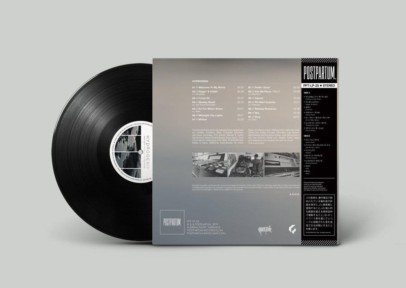 Hydrogenii - Another Heap Of Sequences [Black] [Vinyl Record / LP + Download Code + Sticker + Obi Strip]-POSTPARTUM. RECORDS-Dig Around Records