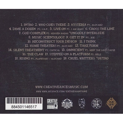 IDE & DJ Connect - Table Of Content: The Prequel To Ideology [CD]-Creative Juices Music-Dig Around Records