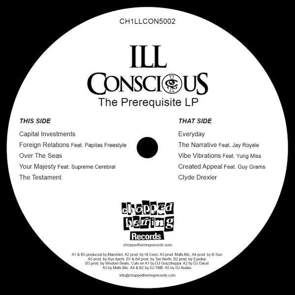 Ill Conscious - Prerequisite [Black] [Vinyl Record / LP]-Chopped Herring Records-Dig Around Records
