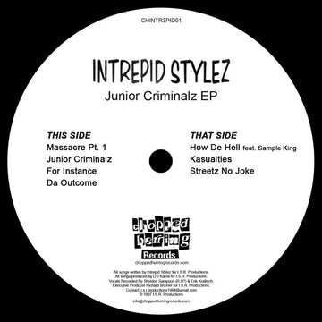 "Intrepid Stylez - Junior Criminalz [Black] [Vinyl Record / 12""]"