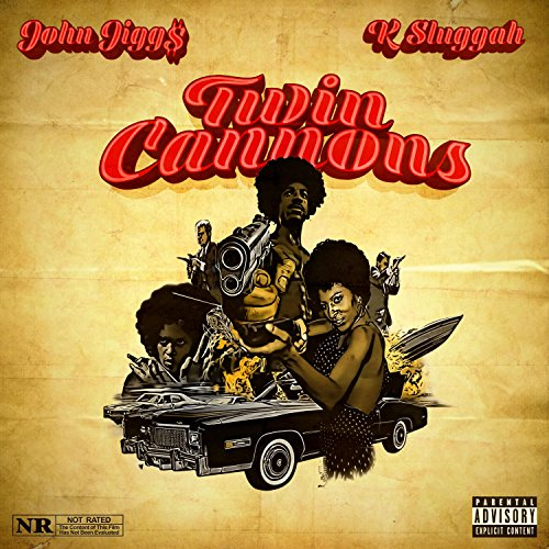 John Jigg$ & K-Sluggah - Twin Cannons [Red] [Vinyl Record / LP]-de Rap Winkel Records-Dig Around Records