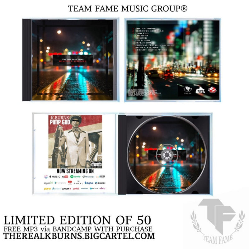 K.Burns - Beautiful Struggle [CD]-Team Fame Music Group LLC-Dig Around Records