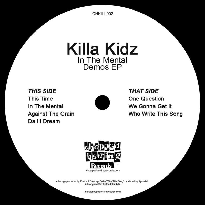 "Killa Kidz - In the Mental -Demos [Black] [Vinyl Record / 12""]-Chopped Herring Records-Dig Around Records"
