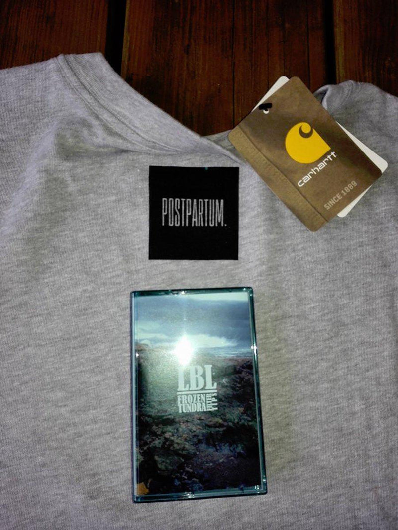 LBL (Lo-Bit Loopers) - frozen tundra filter tips + Postpartum Carhartt Shirt BUNDLE [Cassette Tape + T-Shirt]-POSTPARTUM. RECORDS-Dig Around Records