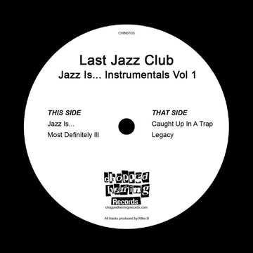 "Last Jazz Club - Jazz Is… Instrumentals Vol 1 [Black] [Vinyl Record / 7""]"