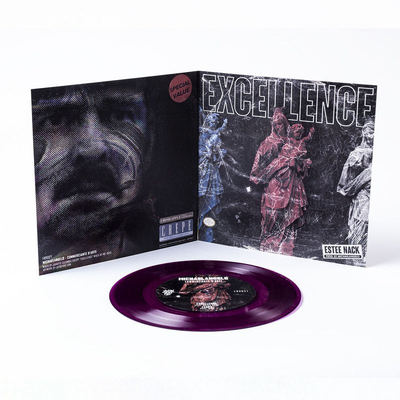 "MICHAELANGELO - Commerciante D'Arte [Purple Transparent] [Vinyl Record / 7""]-FXCK RXP-Dig Around Records"
