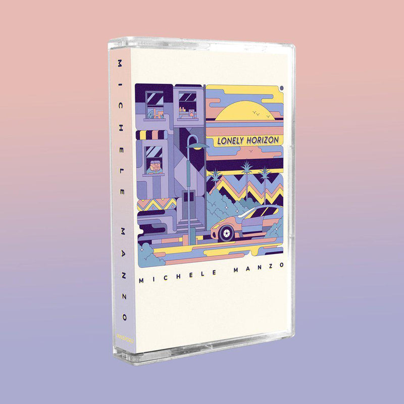 MICHELE MANZO - LONELY HORIZON [White] [Cassette Tape + DL Code + Sticker]-INNER OCEAN RECORDS-Dig Around Records